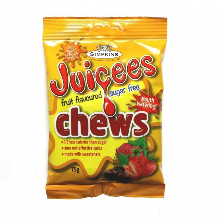 Mixed Fruit - Juicees No Added Sugar Free Chews Sweets Simpkins 75g